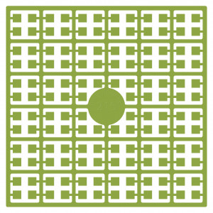 Image of   Pixelhobby Midi Perler 215 Mos Grøn 2x2mm - 144 pixels