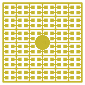 Image of   Pixelhobby Midi Perler 181 Mørk Citrongul 2x2mm - 144 pixels