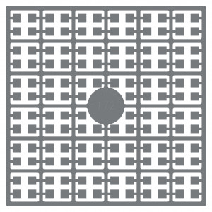 Image of   Pixelhobby Midi Perler 172 Mørk Stålgrå 2x2mm - 144 pixels