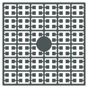 Image of   Pixelhobby Midi Perler 171 Ekstra mørk Metalgrå 2x2mm - 144 pixels