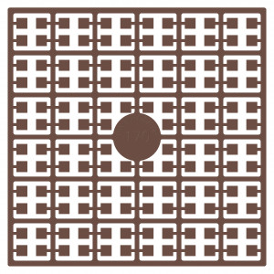 Image of   Pixelhobby Midi Perler 170 Ekstra mørk hudfarve 2x2mm - 144 pixels