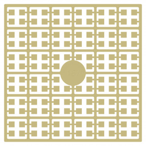 Image of   Pixelhobby Midi Perler 167 Lys Sennepbrun 2x2mm - 144 pixels