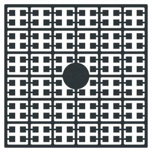 Image of   Pixelhobby Midi Perler 135 Antracit Sort 2x2mm - 144 pixels