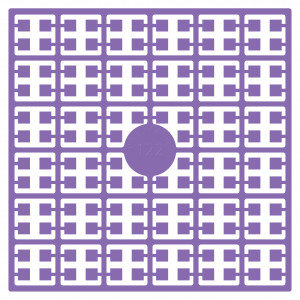 Pixelhobby Midi Perler 122 Mørk Lavendel 2x2mm - 144 pixels