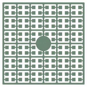 Image of   Pixelhobby Midi Perler 115 Støvet Grøn 2x2mm - 144 pixels