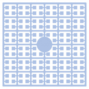 Image of   Pixelhobby Midi Perler 109 Lys Blå 2x2mm - 144 pixels