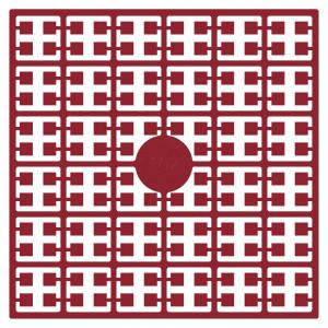 Image of   Pixelhobby Midi Perler 102 Bordeaux Rød 2x2mm - 144 pixels