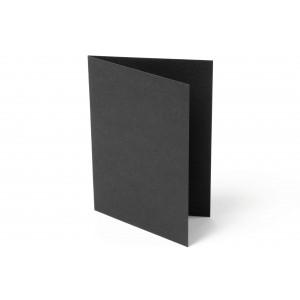 Kort Foldet Sort A7 200g - 10 stk