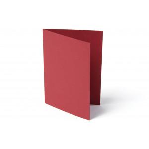Kort Foldet Rød A7 200g - 10 stk