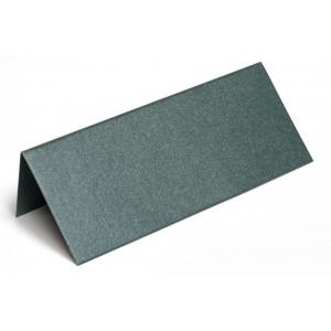 Metallic Bordkort Mørkegrøn 10x4cm 250g - 10 stk