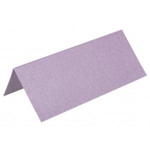 Metallic Bordkort Lilla 10x4cm 250g - 10 stk