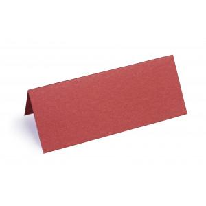 Metallic Bordkort Rød 10x4cm 250g - 10 stk