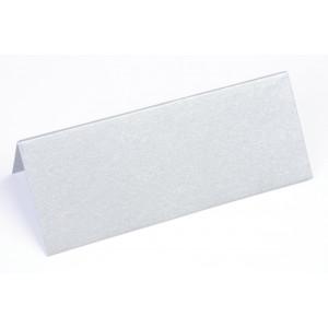 Metallic Bordkort Sølv 10x4cm 250g - 10 stk