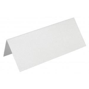 Metallic Bordkort Hvid 10x4cm 250g - 10 stk