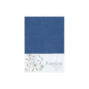 Metallic Kort Foldet Mørkeblå A6 250g - 10 stk