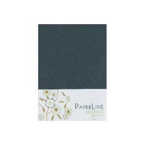 Metallic Kort Foldet Sort A6 250g - 10 stk