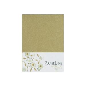 Metallic Kort Foldet Guld A6 250g - 10 stk