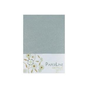 Metallic Kort Foldet Sølv A6 250g - 10 stk