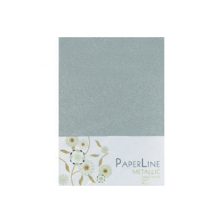 Metallic Kort Foldet Sølv A6 250g - 10 stk thumbnail