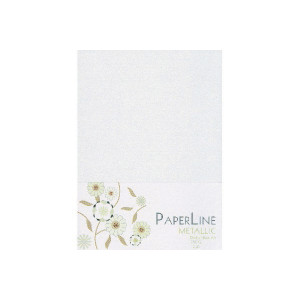 Metallic Kort Foldet Hvid A6 250g - 10 stk