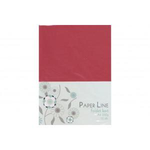 Kort Foldet Rød A6 200g - 10 stk
