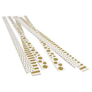 Strimler Selvklæbende Hvid med Guld motiver 420x15mm - 6 stk
