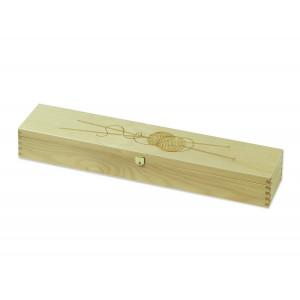 Trææske til strikkepinde 43,5x8x7 cm