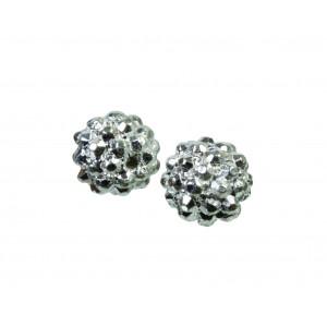 Smykke Metalkugle Buler Sølv 10mm - 10 stk
