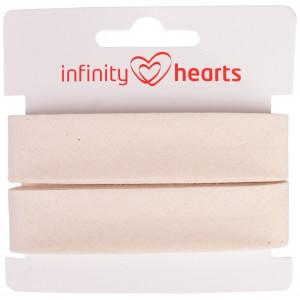 Infinity Hearts Skråbånd Bomuld 40/20mm 00 Natur - 5m