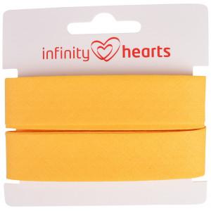 Infinity Hearts Skråbånd Bomuld 40/20mm 92 Gul - 5m