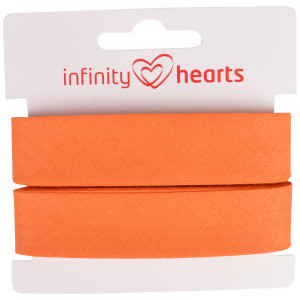 Infinity Hearts Skråbånd Bomuld 40/20mm 66 Orange - 5m