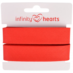 Infinity Hearts Skråbånd Bomuld 40/20mm 04 Rød - 5m