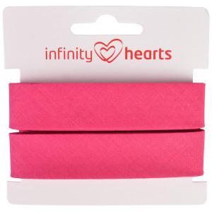 Infinity Hearts Skråbånd Bomuld 40/20mm 95 Fuchsia - 5m