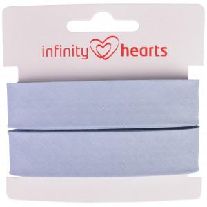 Infinity Hearts Skråbånd Bomuld 40/20mm 09 Lyseblå - 5m