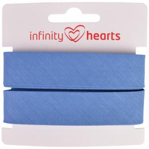 Infinity Hearts Skråbånd Bomuld 40/20mm 10 Jeansblå - 5m
