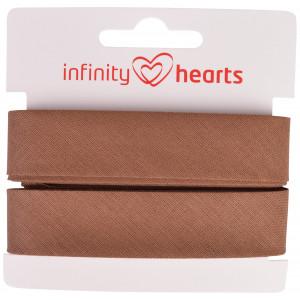 Infinity Hearts Skråbånd Bomuld 40/20mm 16 Brun - 5m