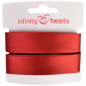 Image of   Infinity Hearts Skråbånd Viscose Satin 40/20mm 1309 Rød - 5m