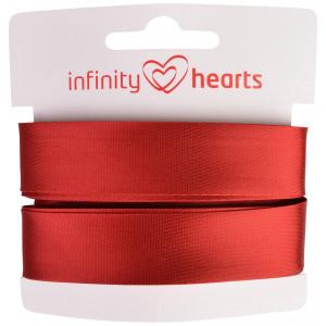Infinity Hearts Skråbånd Viscose Satin 40/20mm 1309 Rød - 5m