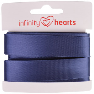 Image of   Infinity Hearts Skråbånd Viscose Satin 40/20mm 1402 Jeansblå - 5m