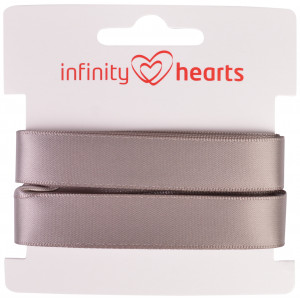 Image of   Infinity Hearts Skråbånd Viscose Satin 40/20mm 1701 Grå - 5m