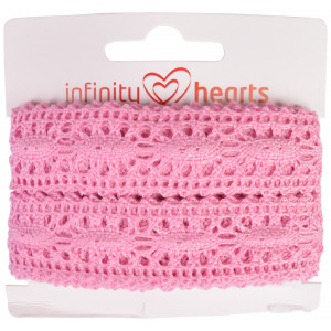 Infinity Hearts Blondebånd Polyester 25mm 09 Lyserød - 5m