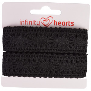 Infinity Hearts Blondebånd Polyester 25mm 11 Sort - 5m