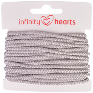 Infinity Hearts Anoraksnor Polyester 3mm 02 Grå - 5m