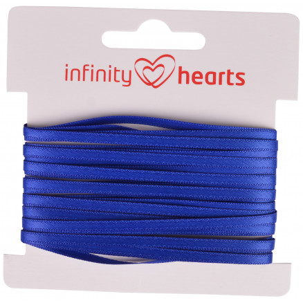 Image of   Infinity Hearts Satinbånd Dobbeltsidet 3mm 329 Marineblå - 5m