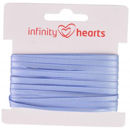 Image of   Infinity Hearts Satinbånd Dobbeltsidet 3mm 333 Lyseblå - 5m