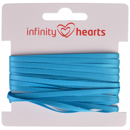Image of   Infinity Hearts Satinbånd Dobbeltsidet 3mm 325 Turkis - 5m