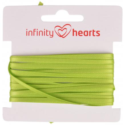 Image of   Infinity Hearts Satinbånd Dobbeltsidet 3mm 551 Grøn - 5m