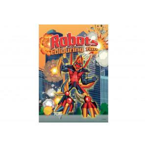 Malebog Robotter A4 - 16 sider