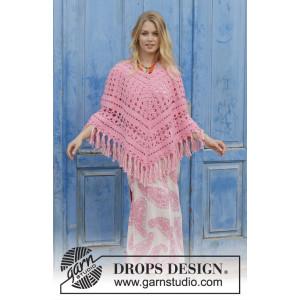 Mamma Miaby DROPS Design - Poncho Hækleopskrift str. S - XXXL