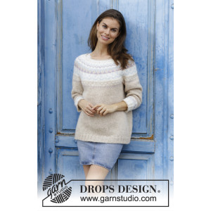 Nougat by DROPS Design - Bluse Strikkeopskrift str. S - XXXL